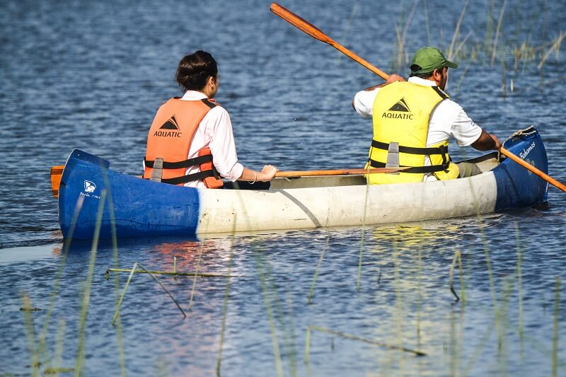 Canoeing at Aguape Lodge